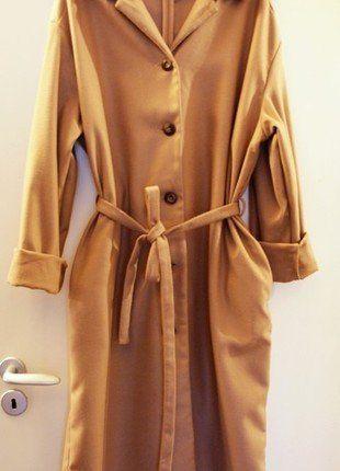 Kup mój przedmiot na #vintedpl http://www.vinted.pl/damska-odziez/plaszcze/15969166-asos-klasyczny-plaszcz-oversize-camel-midi-handmade-zara-36-s
