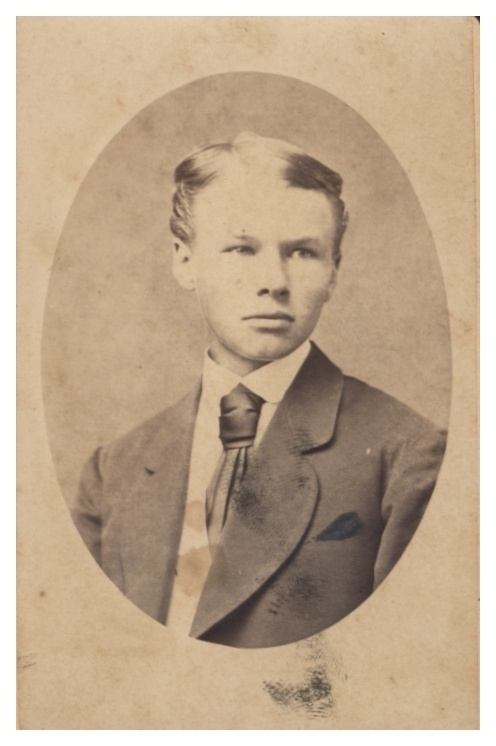 vintage young man in suit photo