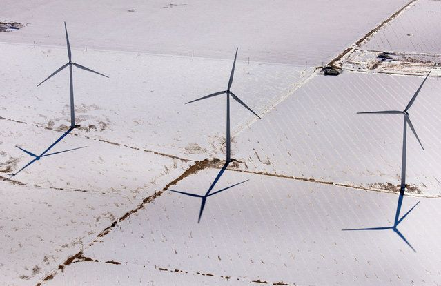 Texas wind turbines - USA From The Air | www.piclectica.com #piclectica