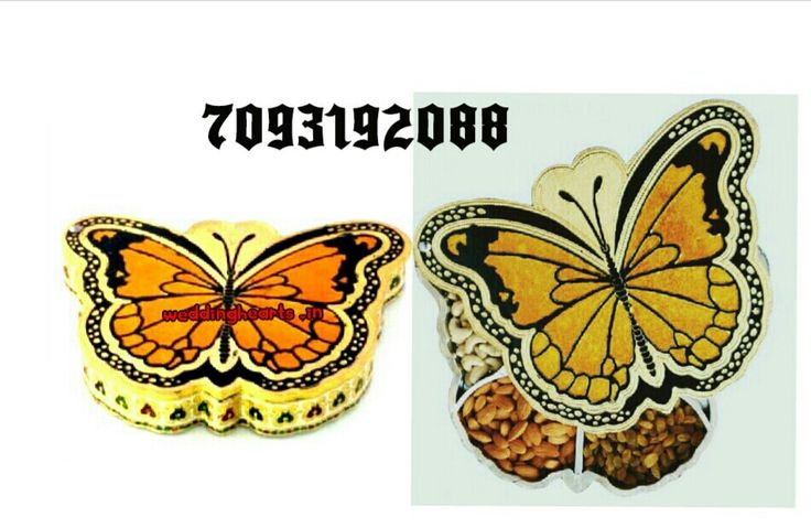 """Meenakari butterfly shape dry fruit boxes.Size: 5"""".(Bulk orders only    moq 25 boxes).Code: WH D 002.Price Rs175 each."""