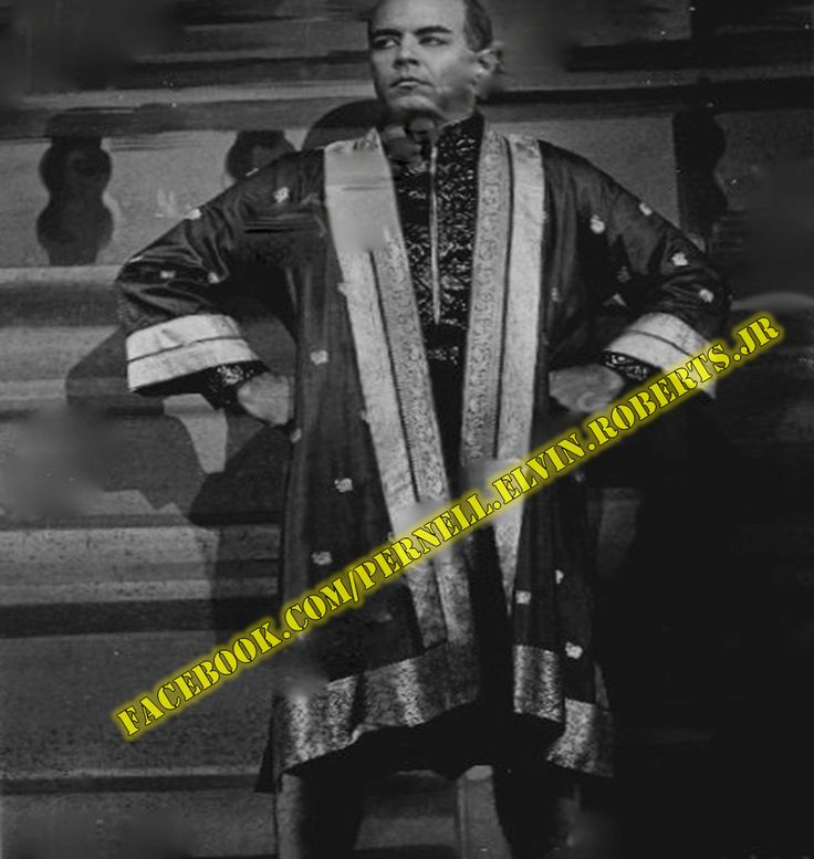 "1966 & 1967 - THE KING AND I Pernell Roberts as the ""King of Siam"" in scene from stock production of musical ""The King and I"""