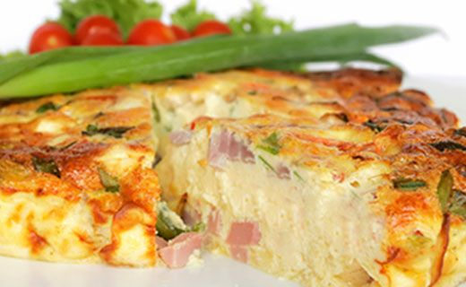 Epicure's Ham and Swiss Frittata