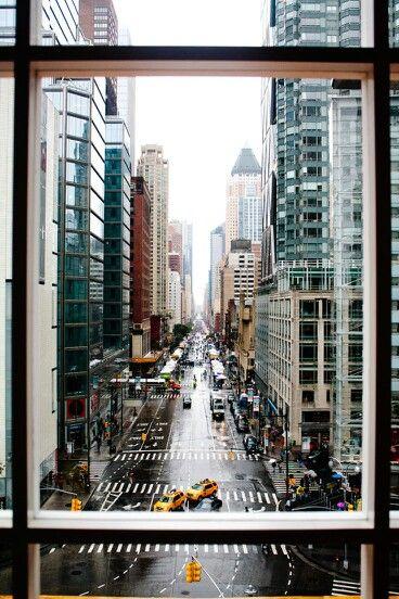 New york atravez de una ventana