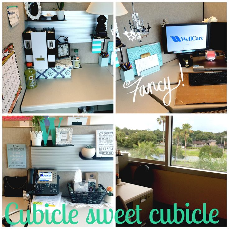Best 25 cubicle makeover ideas on pinterest work office Cubicle desk decorating ideas