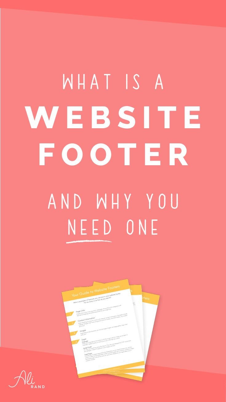What's a Website Footer and Why You Need One | Need website footer ideas? Here's what you need to know.