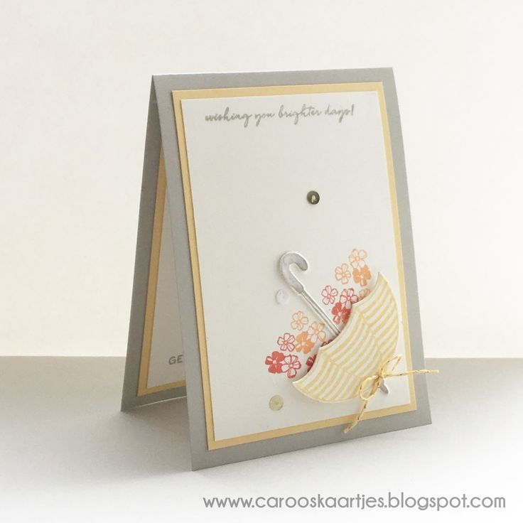 Caro's Cards - for Stampin 'Up! inspiration and ordering Stampin 'Up! Products: Stampin 'Up ® weather together - 2nd well card!