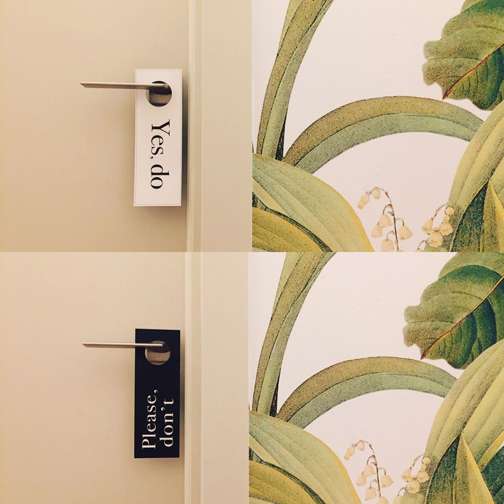 Hotel door signage. The Parkhouse. Cape Town.