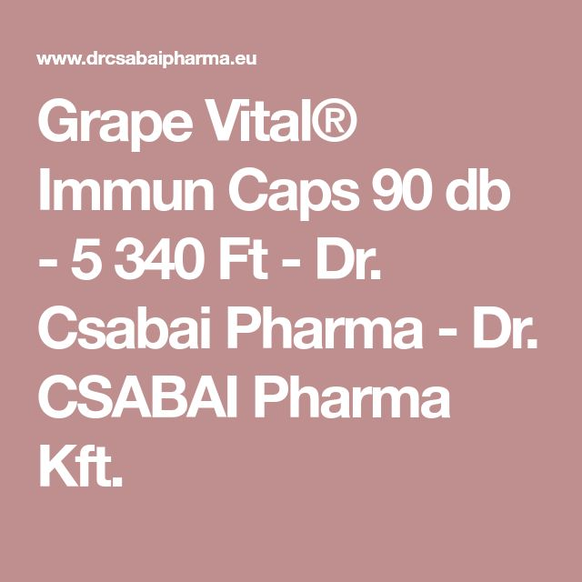 Grape Vital® Immun Caps 90 db - 5 340 Ft - Dr. Csabai Pharma - Dr. CSABAI Pharma Kft.