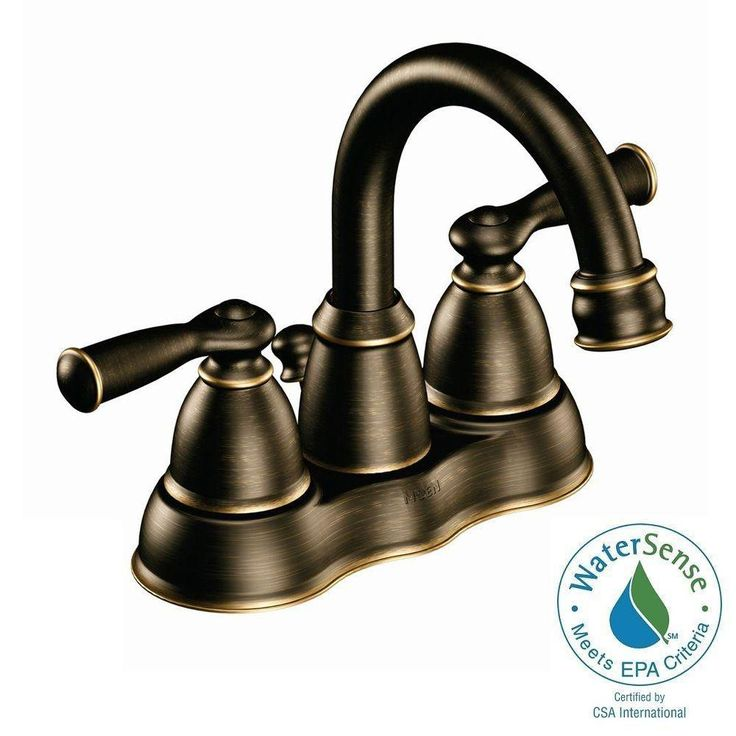 Centerset 2 Handle High Arc Bathroom Faucet In Mediterranean Bronze