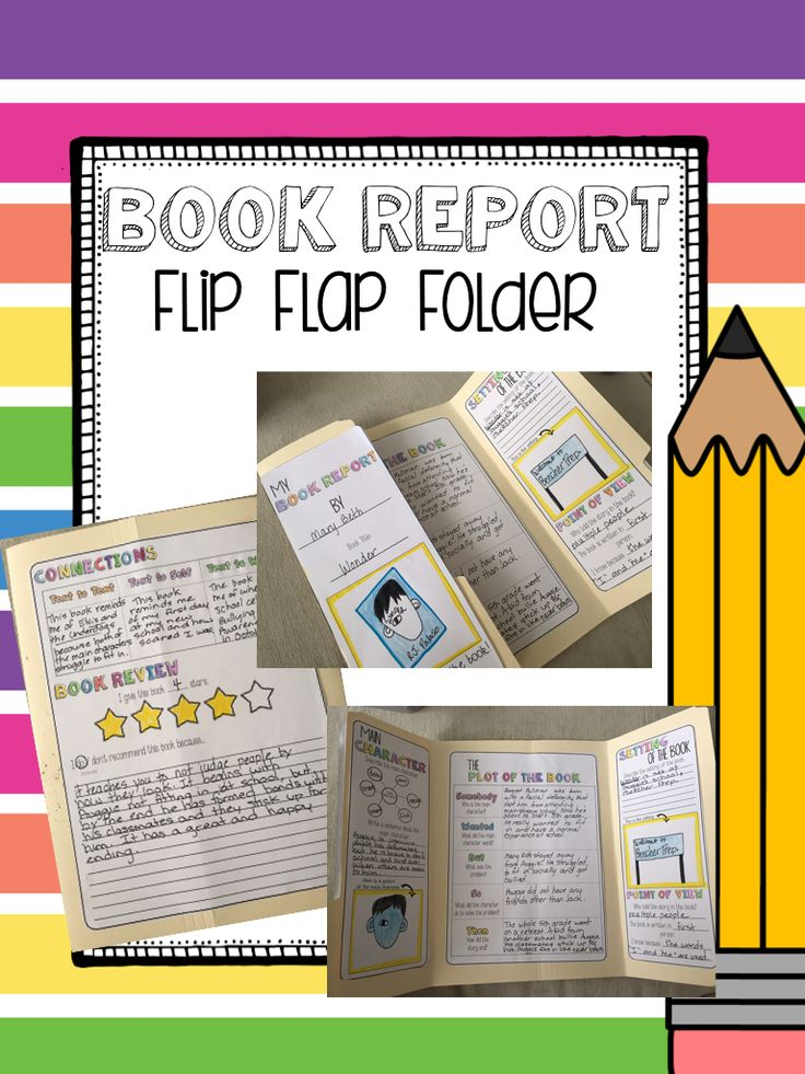 Exceptionnel Book Report Flip Flap Folder Book For ANY Fiction Book. Great For Read  Alouds,