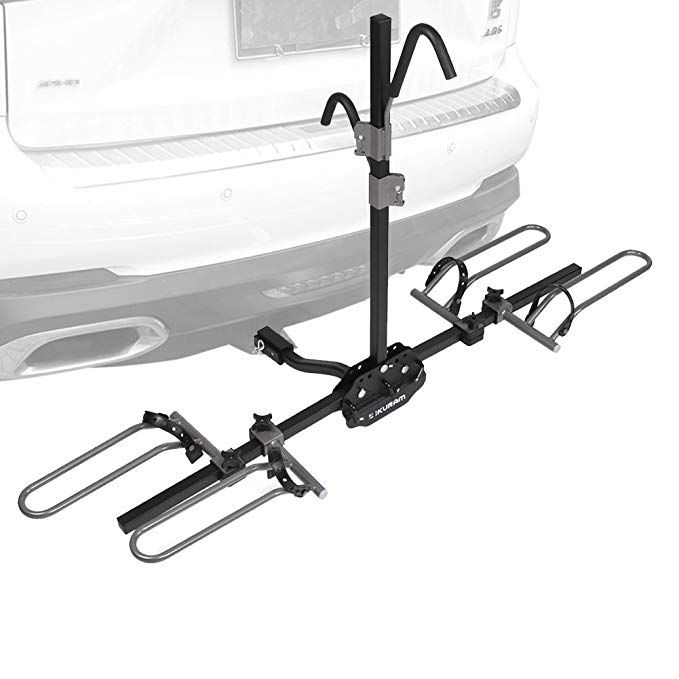 Ikuram 2 Bike Platform Hitch Mount Tray Rack Heavy Duty Bicycle