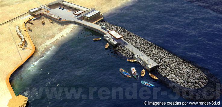 Caleta San Marcos | Render 3D Arquitectura - Infografia - Fotorealismo