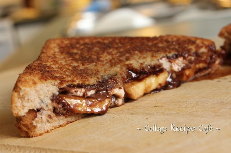 Grilled Nutella, Banana and Marshmallow Sandwich  #CollegeRecipes #YUMMY