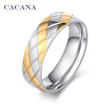 CACANA acier inoxydable anneaux pour les femmes ananas extérieur mode bijoux en…