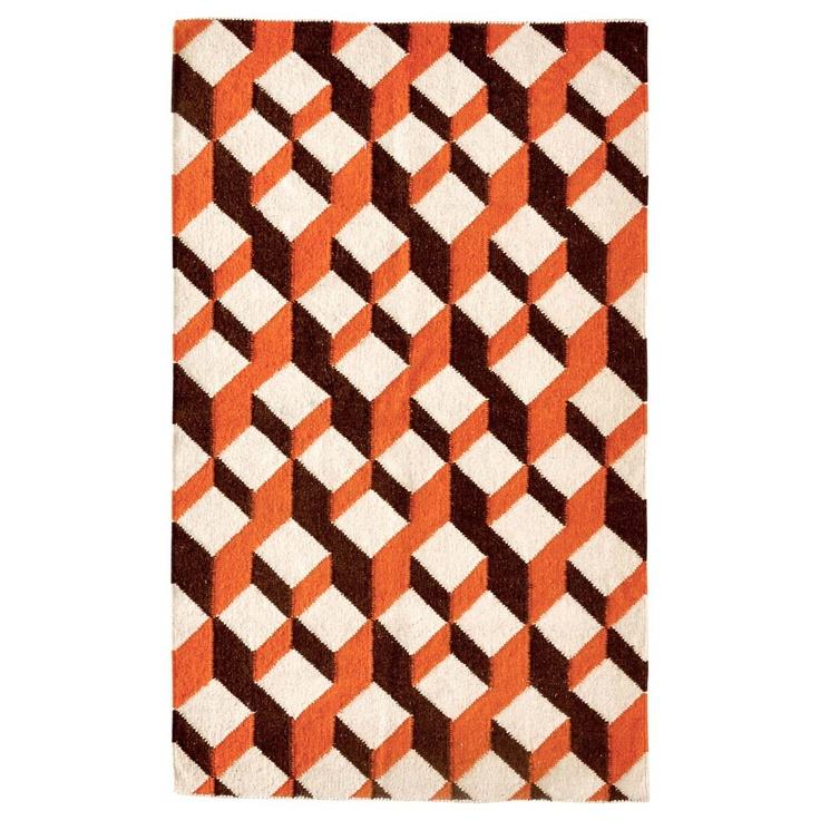 Geo 3x5 Orange Rug Floor Amp Carpets Pinterest