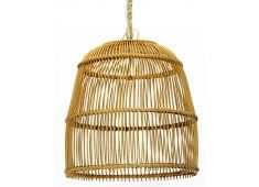 $330 50x50 AN OPEN WEAVE LONGER DOME RATTAN PENDANT LIGHT, IN NATURAL RATTAN kitchen island bench pendant