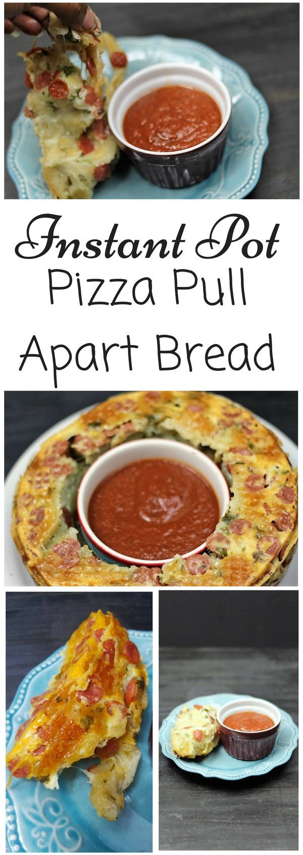 Instant Pot Pizza Pull Apart Bread