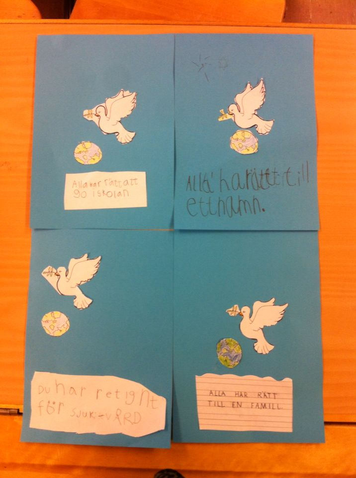 Fredsduva samt barnkonventionen