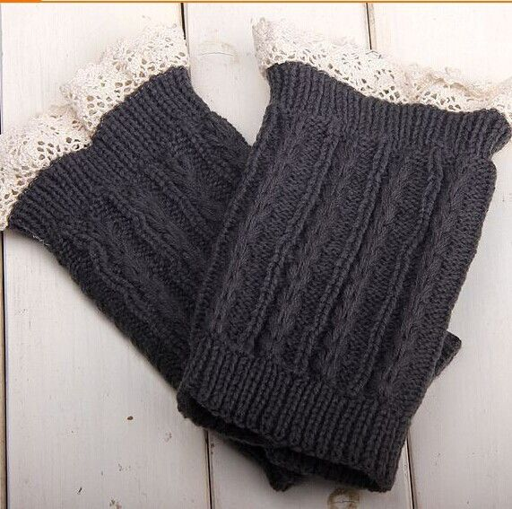 Lace Cable Knit Boot Cuff knit boot topper faux legwarmers sock tops knit leg warmers boot warmers #3732