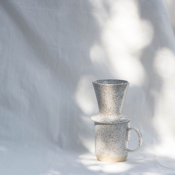 Ceramic pour-over and mug by Wicked Wanda Pottery