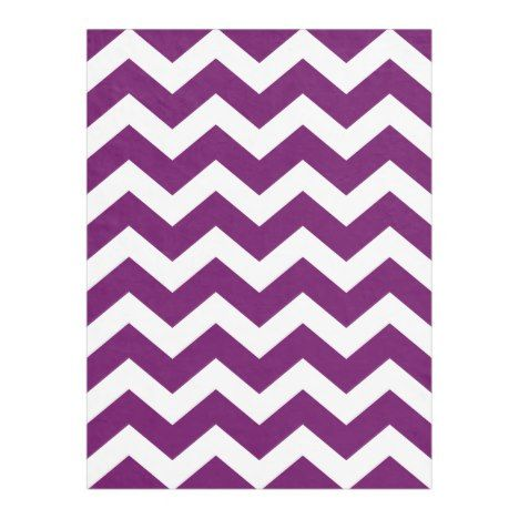 Modern Eggplant Purple Chevron Fleece Blanket Check out these blankets that you can personalize with your own names. #blanket #throw #homedecor