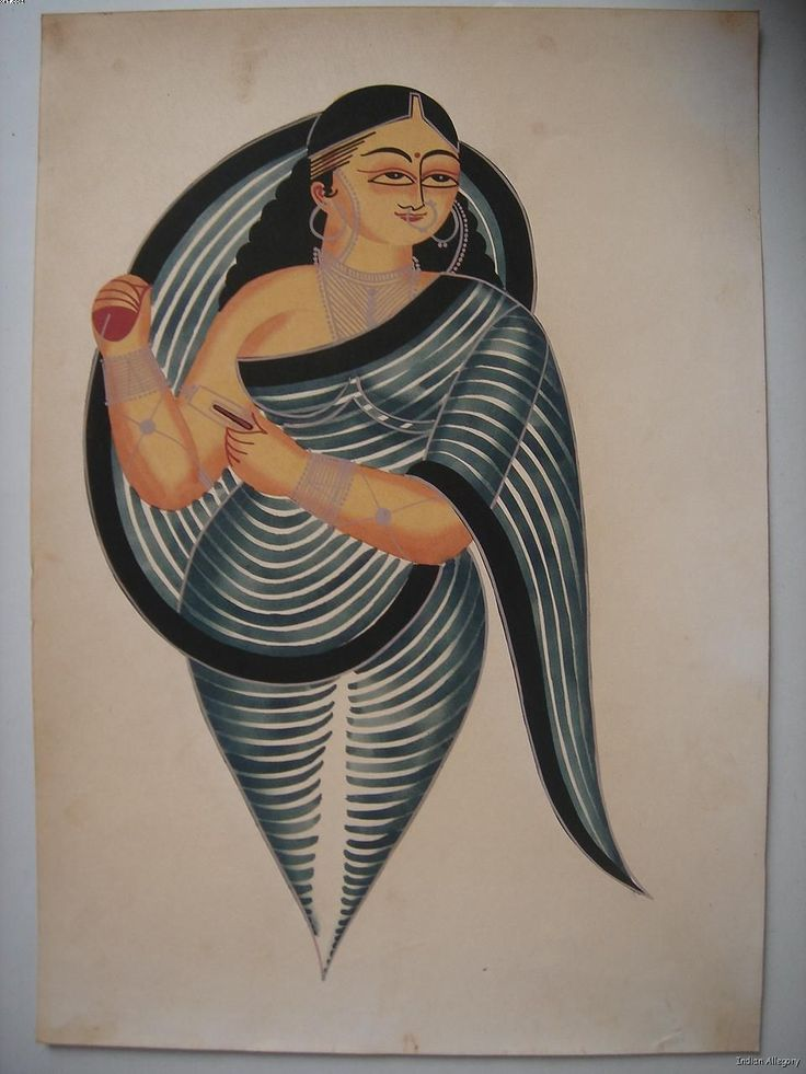 Kalighat paintings from Bengal, India
