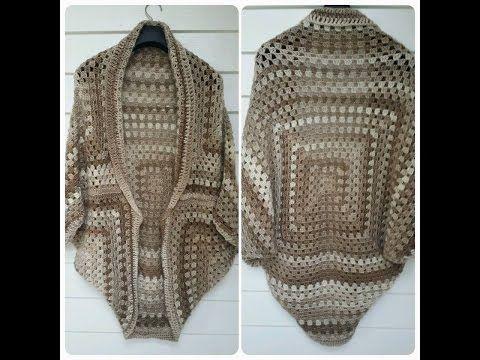 chaqueta crochet granny square tutorial - YouTube