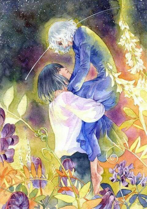 """""""Sophie..i tuoi capelli si sono tinti della luce delle stelle...CHE SPLENDORE"""" (Howl  - Il Castello Errante di Howl)"""