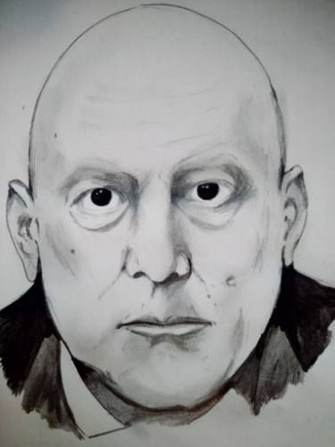 "Saatchi Art Artist Matei Florin; Drawing, ""Aleister Crowley"" #art"