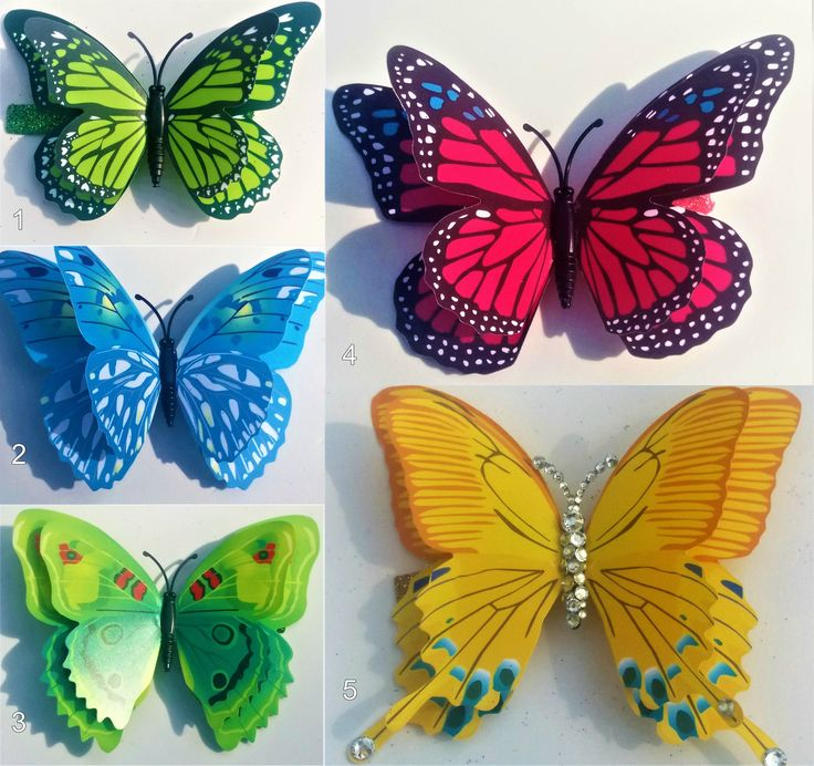 Large 3D Butterfly Hairclips by YourDeadlyDesires on Etsy