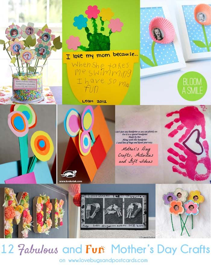 12 Fun and Easy Mothers Day Crafts