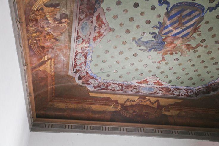 -- Via Cusani 5, Milano: Palazzo Cagnola -- Un altro dei soffitti affrescati dello splendido Palazzo