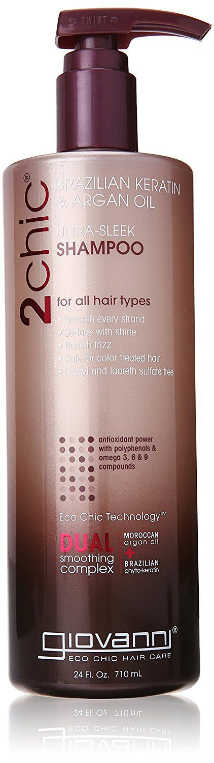 Giovanni 2chic Brazilian Keratin and Argan Oil Ultra-Sleek Shampoo, 24 Fluid Ounce * For more information, visit now : Natural Beauty Care