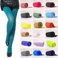 Wish   NEW Women's Sexy 17 Candy Color Opaque Stockings Pantyhose Tights 100D BD0026