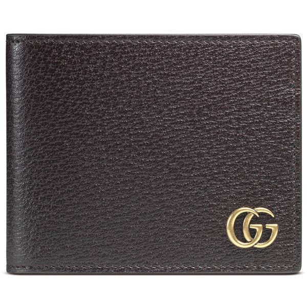 Gucci Gg Marmont Leather Money Clip ($340) ❤ liked on Polyvore featuring men's fashion, men's accessories, men's money clips, accessories, men, wallets, mens leather wallet with money clip, mens leather money clip, mens money clip wallet and mens leather accessories