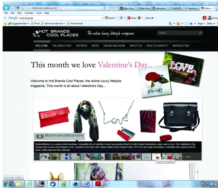 Hot Brands Cool Places Valentines Pic