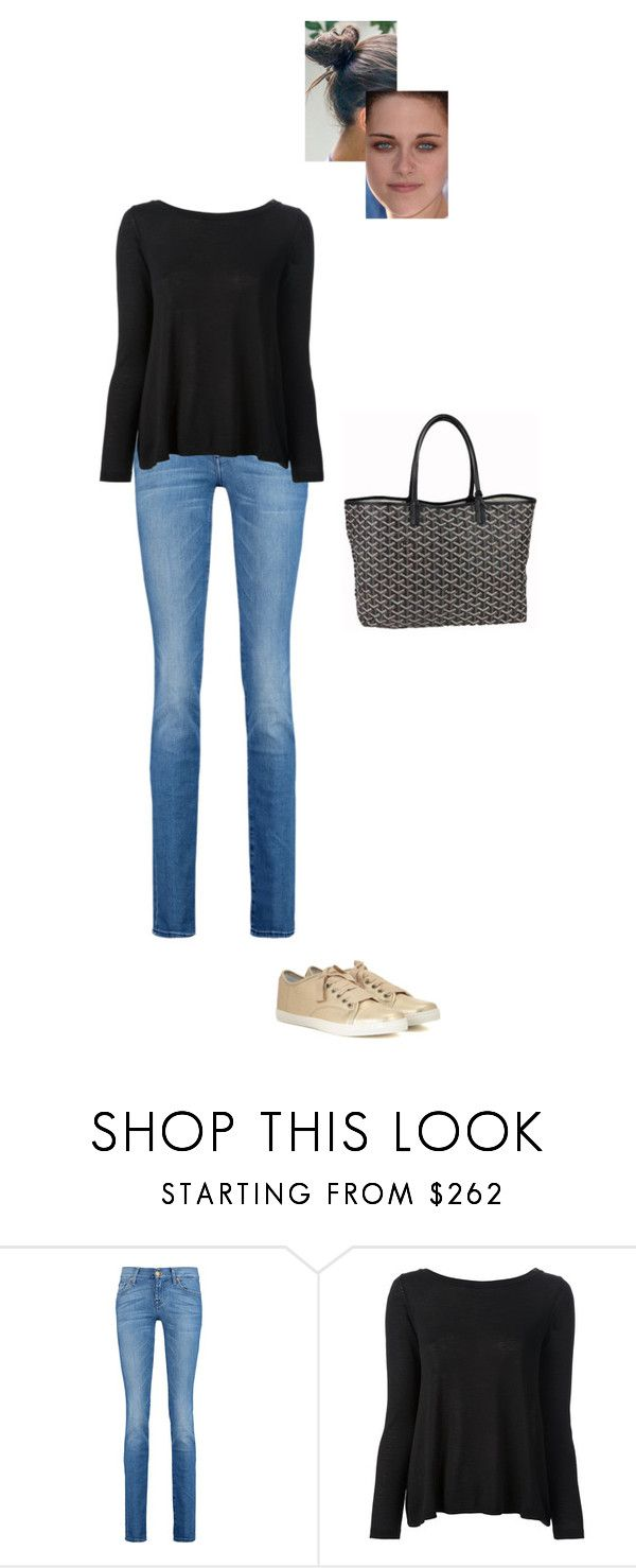 """""""Sem título #7655"""" by gracebeckett on Polyvore featuring moda, 7 For All Mankind, RED Valentino e Goyard"""