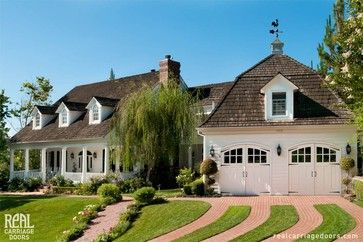 Arched Wood Carriage Garage Doors - traditional - garage and shed - san francisco - Real Carriage Door Company