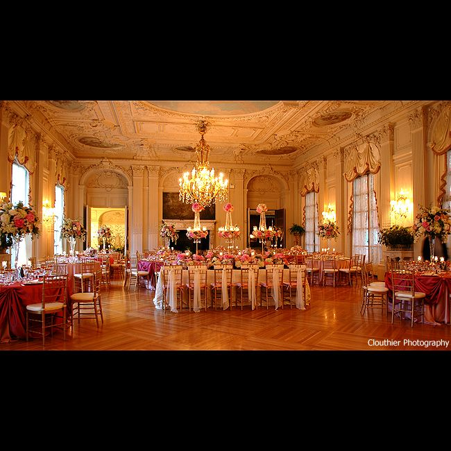 A Beautiful Summer Wedding At Rosecliff Mansion In Newport: Mad Addict Tea Party....dining Rooms