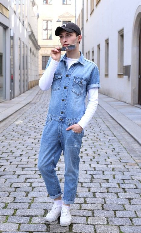 Denim Jumpsuit für Männer Fashion Blog Männer Mister Matthew Fashion Blog