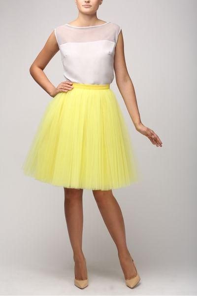 Tulle skirt #lemon de Fanfaronada Fashion Design Studio  sur DaWanda.com