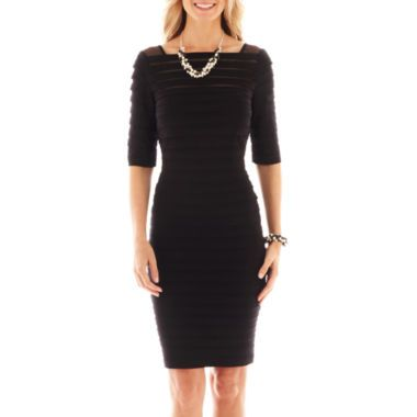 Simply Liliana Banded Illusion Dress Found At Jcpenney