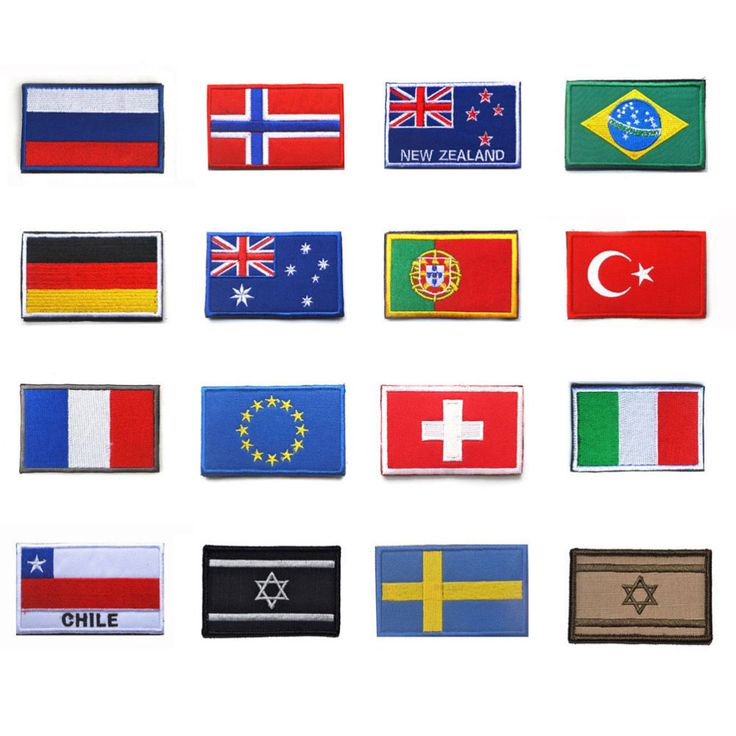 Pays Drapeau patch Israël Russie Allemagne Brésil Norvège France L'UE Portugal Turquie Italie Chili Australie Velcro Badge
