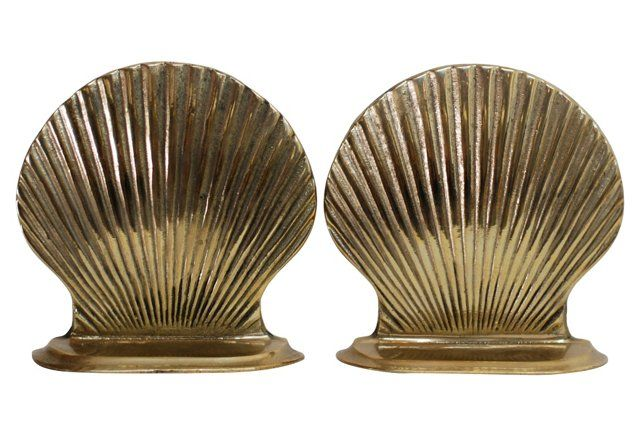 Midcentury Clam Shell Bookends