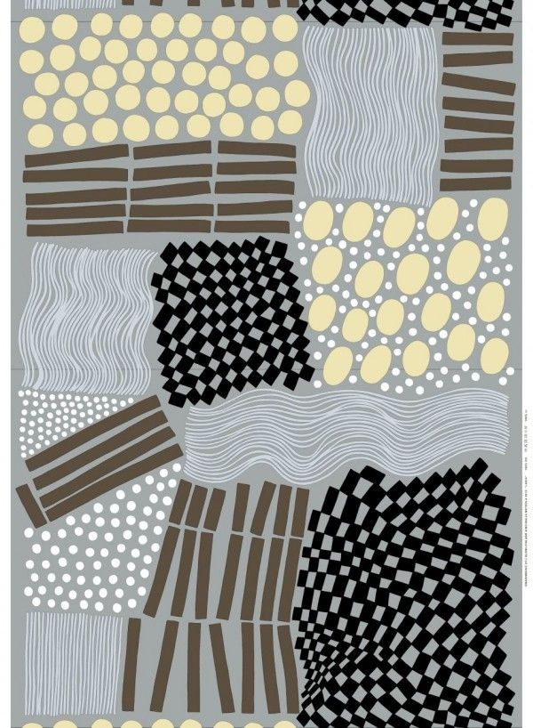 Marimekko. Fabric design. Possible HS design lesson