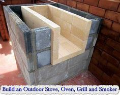 Build an Outdoor Stove, Oven, Grill and Smoker  They say you can build this outdoor stove for under 300 bucks, I think we can get this price down a lot tho… just by using some common sense and some skills. The biggest obvious cost would be the brick and concrete blocks … The first thing I would…