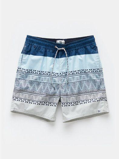 Swim Shorts Ethnic Print Multicoloured - The Sting