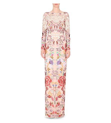 TEMPERLEY LONDON Baudelaire silk gown (White mix