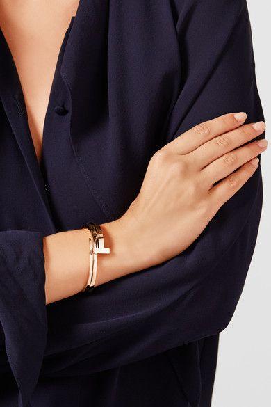 Tiffany & Co. - T Wrap 18-karat Rose Gold Diamond Bracelet -