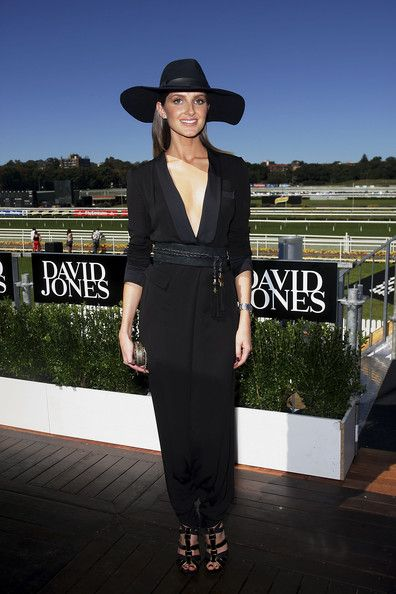 Gucci jumpsuit, Gucci heels. Australian Derby Day